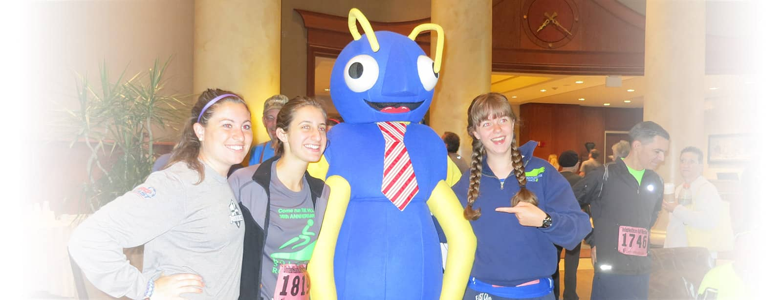 the big blue bug mascot in providence rhode island